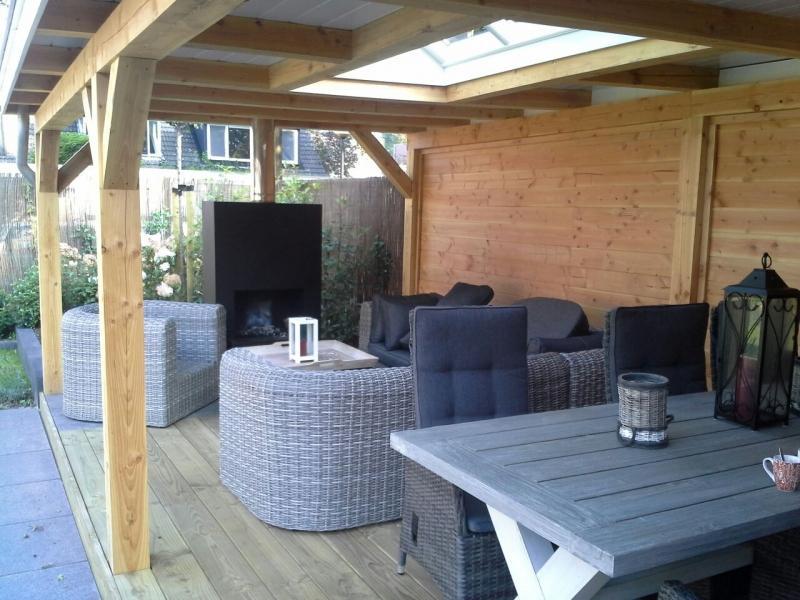 New Veranda met lichtstraat | Houtenveranda.nl @FO49